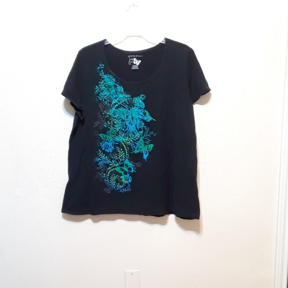 Just My Size Tops - JMS black t-shirt size 3X